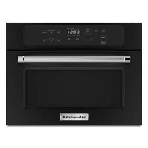 """KitchenAid reg; 24"""" Built In Microwave Oven with 1000 Watt Cooking  - Black"""