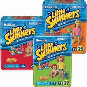 Kimberly Clark Unisex Baby Swim Diaper Huggies Little Swimmers Pull On with Refastenable Tabs Large Disposable He - Case of 80 by Kimberly Clark