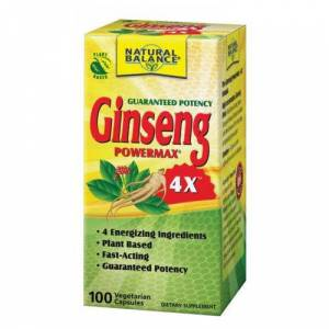 Natural Balance (Formerly known as Trimedica) Ginseng Power Max 4X 100 Caps by Natural Balance (Formerly known as Trimedica)