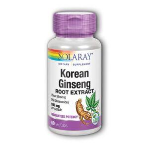 Solaray Korean Ginseng Root Extract 60 Caps by Solaray