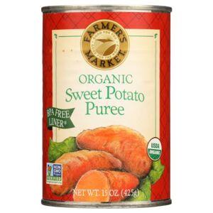 Farmers market Organic Sweet Potato Puree 15 Oz by Farmers market