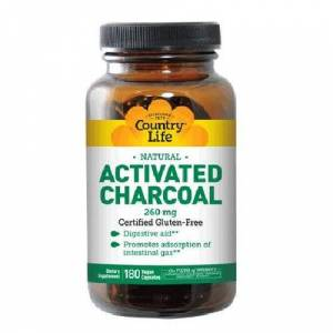 Country Life Activated Charcoal 180 Caps by Country Life