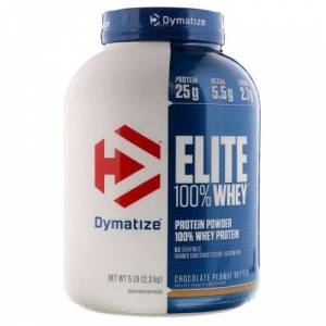 Dymatize Elite 100% Whey Chocolate Peanut Butter 5 lbs by Dymatize
