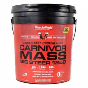 Muscle Meds Carnivor Mass Big Steer Chocolate Fudge 15 lbs by Muscle Meds