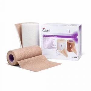 3M 2 Layer Compression Bandage System 3M Coban 6 Inch X 3-4/5 Yard / 6 Inch X 4-9/10 Yard 35 to 40 mmHg - Case of 8 by 3M