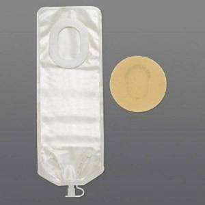 Hollister Colostomy Pouch Pouchkins One-Piece System 6 Inch Length 7/8 to 1-3/8 Inch Stoma Drainable Trim To F - Ultra-clear 15 Count by Hollister