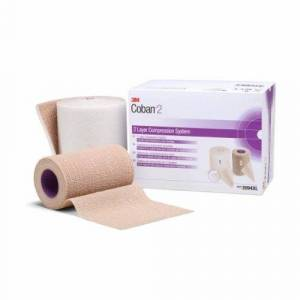 3M 2 Layer Compression Bandage System 3M Coban 4 Inch X 3-4/5 Yard / 4 Inch X 6-3/10 Yard 35 to 40 mmHg - Case of 8 by 3M