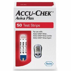 Accu-Chek Blood Glucose Test Strips Accu-Chek Aviva Plus 50 Strips per Box Tiny 0.6 microliter drop For Accu- - Case of 1800 by Accu-Chek