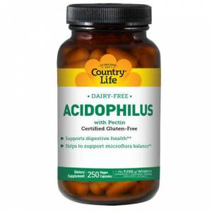Country Life Acidophilus with Pectin Vegetarian 250 Caps by Country Life