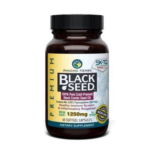 Amazing Herbs Black Seed Black Cumin Seed Oil 60 Caps by Amazing Herbs