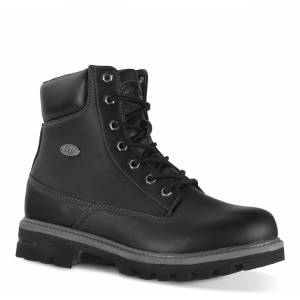 Lugz Men's Empire Hi Water Resistant 6-Inch Boot (Choose Your Color: Black/Charcoal, Choose Your Size: 15.0)