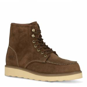 Lugz Men's Prospect 6 Inch Boot (Choose Your Color: BROWN/CREAM, Choose Your Size: 12.0)
