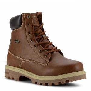 Lugz Men's Empire Hi Water Resistant 6-Inch Boot (Choose Your Color: ROASTED CHESTNUT/BARK/CREAM, Choose Your Size: 12.0)