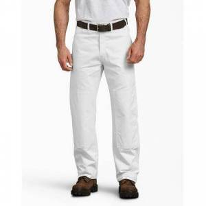 Dickies Men's Painter's Double Knee Utility Pants - White Size 32 34 (2053)