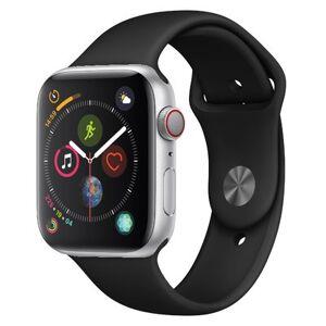 Apple Watch Series 4 GPS + Cellular Silver Aluminium 44MM Black Sport Band