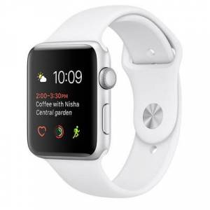 Apple Watch Series 2 38mm Silver Aluminium Case White Sport Band