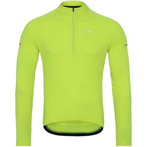 dhb Long Sleeve Jersey - XS - Fluro Yellow