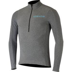 Alpinestars Booter Warm Jersey  - Melange Gray Atoll Blue