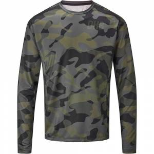 dhb MTB Long Sleeve Trail Jersey -Camo  - Khaki-Black