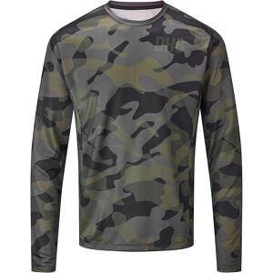 dhb MTB Long Sleeve Trail Jersey -Camo  - XL - Khaki-Black