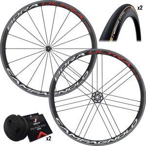 Campagnolo Bora Ultra 35 Clincher Wheels & Tyres - 25c - Bright Label