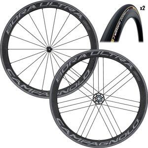 Campagnolo Bora Ultra 50 Tubular Wheels & Tyres - 25c - Dark Label