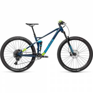 Cube Stereo 120 Pro 29 Suspension Bike 2021 - M - Blueberry - Green