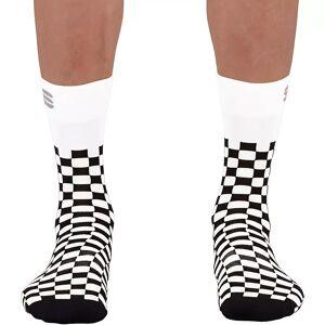 Sportful Checkmate Cycling Socks SS21 - M/L - White-Black