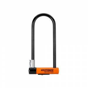 Kryptonite Evolution Long U-Lock FlexFrameBracket - Sold Secure Gold Rated - Black - Orange