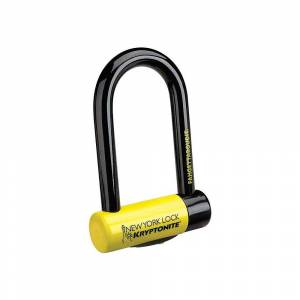Kryptonite New York Fahgettaboudit Mini Lock - Sold Secure Gold Rated - Black - Yellow