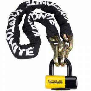Kryptonite New York Fahgettaboudit Chain & Padlock - Sold Secure Gold Rated - Black-White