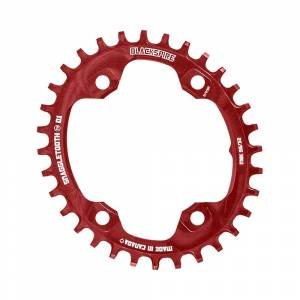 Blackspire Snaggletooth NW Oval Chainring XT M8000 - 4-Bolt - Red