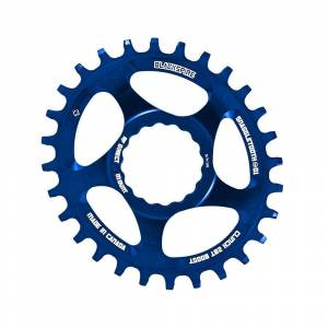 Blackspire Snaggletooth Cinch Offset Oval Chainring - Direct Mount - Blue
