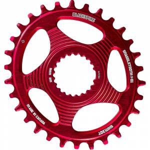Blackspire Snaggletooth Oval Shimano Chainring - Direct Mount - Red