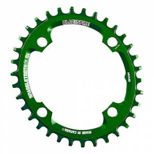 Blackspire Snaggletooth 104 Oval Shimano Chainring - 4-Bolt - Lime Green
