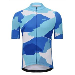 dhb Blok Short Sleeve Jersey - WAVES - Small Blue/White   Jerseys