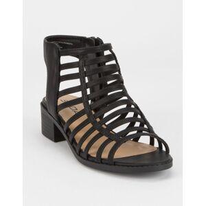 SODA Depth Black Girls Heeled Sandals