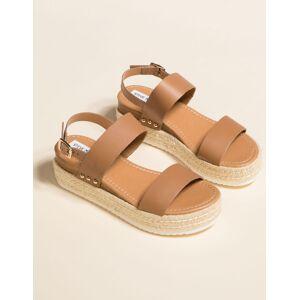 STEVE MADDEN Catia Natural Espadrille Flatform Sandals
