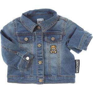 Moschino Baby Jacket for Girls On Sale, Blue Denim, Cotton, 2019, 12M 24M 9M