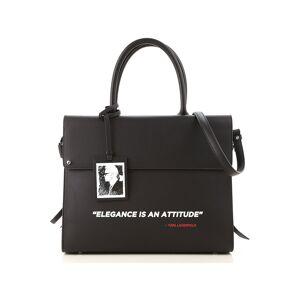 Karl Lagerfeld Top Handle Handbag On Sale, Black, Leather, 2019