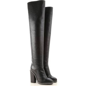 Balmain Boots for Women, Booties On Sale in Outlet, Black, Leather, 2019, 10 6 7 8.5 9