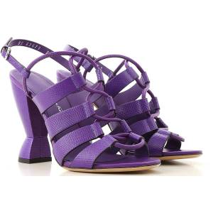 Salvatore Ferragamo Sandals for Women On Sale in Outlet, Purple, Leather, 2019, 5.5 9.5