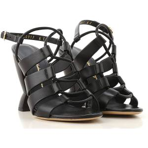 Salvatore Ferragamo Sandals for Women On Sale in Outlet, Black, Leather, 2019, 5.5 6.5