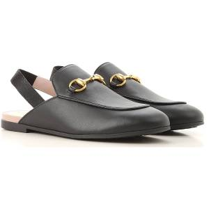 Gucci Kids Shoes for Girls On Sale, Black, Leather, 2019, 28 31