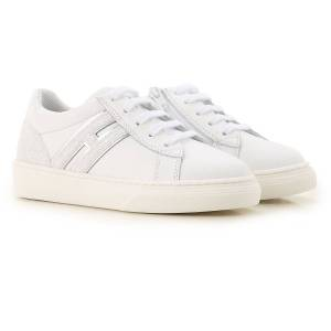 Hogan Kids Shoes for Girls On Sale, White, Leather, 2019, 20 23 24 25 26