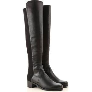Stuart Weitzman Boots for Women, Booties On Sale, Black, Leather, 2019, US 8.5  (EU 39) US 7.5  (EU 38)