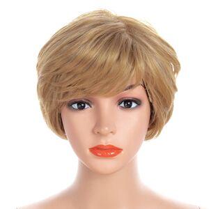 Newchic Synthetic Wigs Gold Short Straight Hiar Wigs Full Bangs Wigs Headwear Hair StylingFor Women