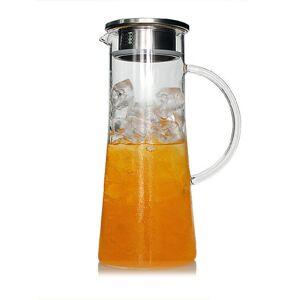 Newchic 1800Ml Glass Kettle Heat Resistant Transparent Teapot Stainless Steel Strainer Juice Flower Teapot