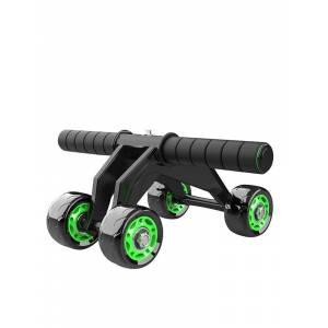 Newchic KALOAD 4 Wheel ABS Roller Wheel Sports Fitness Gym Exercise Stretch Wasit Abdominal Wheel Rooler