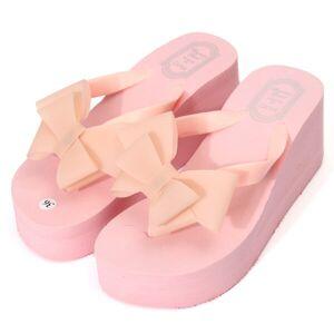 Newchic Butterfly Knot Platform Clip Toe Beach Slippers